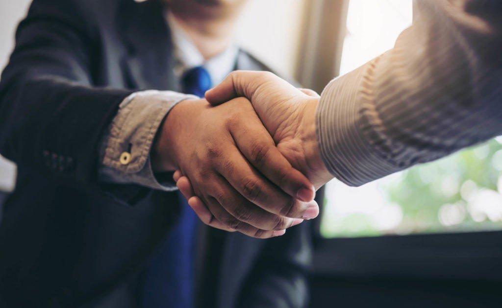 Handskakning överenskommelse